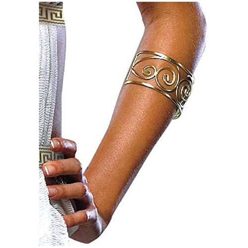 [GSG Spartan Queen Arm Cuff 300 Greek Roman Goddess Slave Girl Costume Acsry] (Womens Three Musketeers Costumes)