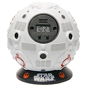 Zeon 10642 - Reloj despertador, nave redonda de Star Wars, color blanco   Comentarios de clientes y más información