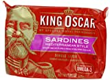 King Oscar Mediterranean Sardines,  3.75 Ounce Tins (Pack of 12)