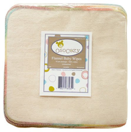 OsoCozy Cloth Baby Wipes - 15 ct