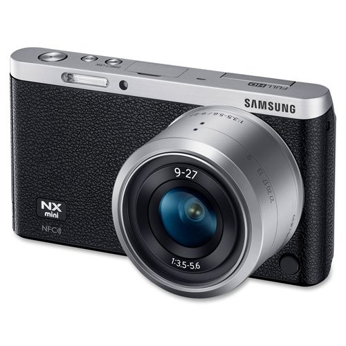 Samsung NX Mini 20.5MP CMOS Smart WiFi & NFC Mirrorless Digital Camera with 9-27mm Lens and 3″ Flip Up LCD Touch Screen (Black)