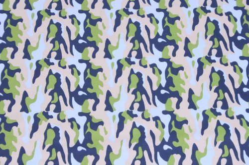Camo Air Printed Crib Fitted Sheet front-28376
