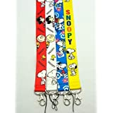Set of 4 Snoopy Peanut Lanyard Key Chain Holder ~Lanyard~ (snoopy)