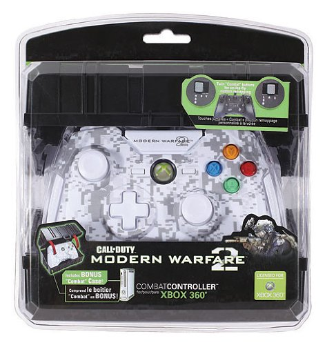 Mad Catz Call Of Duty: Modern Warfare 2 Combat Controller For Xbox 360 - Snow