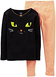 Carter\'s Baby Girls\' 2 Piece Graphic PJ Set (Baby) - Cat - 9 Months