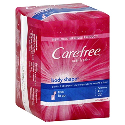 Carefree Body Shape To-Go Pantiliners-Unscented-22 ct