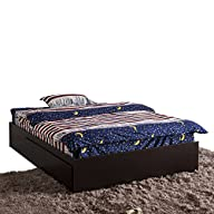 HomCom Modern 4 Drawer Storage Bed -…