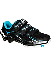 Northwave Vega Womens Mountain Cycling Shoe Black Turquoise - 36