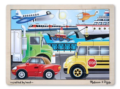 Melissa & Doug On the Go (Vehicles) Jigsaw Puzzle 12 pc