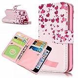 Zeebox iPhone SE 手帳型 ケース スタンド機能 カード収納ホルダー 衝撃吸収 Apple iPhoneSE 対応 高品質 保護カバー 生涯補償付き (ピンク)