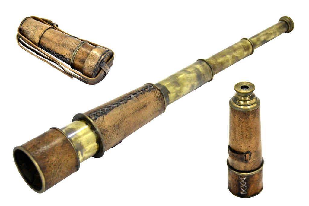 Brass Nautical Antique Telescope - 18 inches Long 0