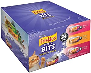 Friskies Cat Food Meaty Bits Variety Pack, 5.5-Ounce Cans (Pack of 24)