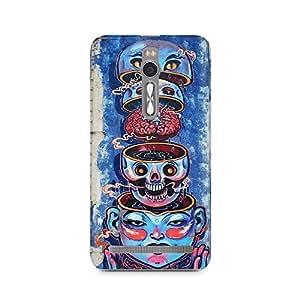 Mobicture Skull Abstract Premium Designer Mobile Back Case Cover For Asus zenfone 2 back cover,asus zenfone 2 back cover printed,asus zenfone 2 back cover printed 3d,asus zenfone 2 back cover 3d