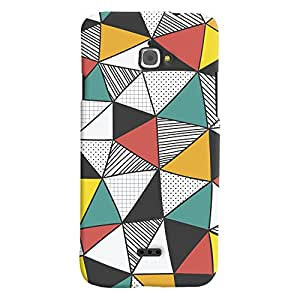 ColourCrust Infocus M350 Mobile Phone Back Cover With Abstract Style Modern Art - Durable Matte Finish Hard Plastic Slim Case