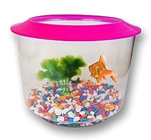 Fish water tank bowl plastic aquarium colour goldfish for Large plastic fish bowl
