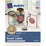 Avery Print-to-the-Edge Round Labels, Kraft Brown, 2.5 inch Diameter, Pack of 90 (22818)