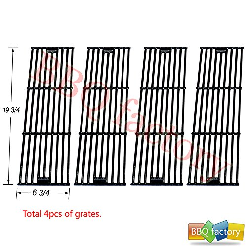 65051(4-Pack) Porcelain Cast Iron Cooking Grid Replacement For Select Chargriller Gas Grill Models And Others