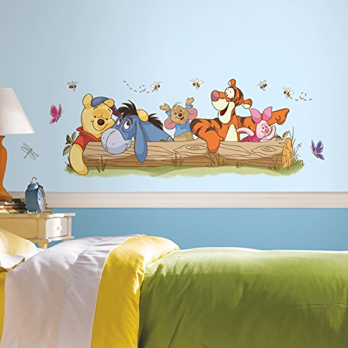 Winnie The Pooh Outdoor Fun Peel and Stick Giant Wall Decals RoomMates RMK2553GM