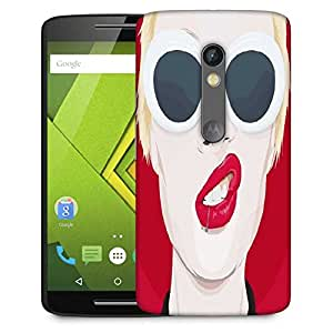 Snoogg frowning punk 2778 Designer Protective Back Case Cover For Motorola Moto G4