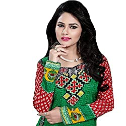 StarMart New Fashionable Batter Crepe Straight Un-stitched Salwar Kameez 2006C