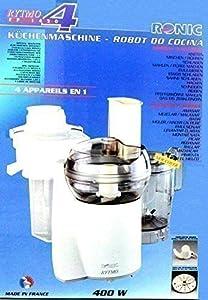 Original Ronic Rytmo  Erweiterter Lieferumfang  Küchenmaschine 400 Watt mit Entsafteraufsatz, Mixaufsatz und viel ZubehörKundenbewertung und weitere Informationen