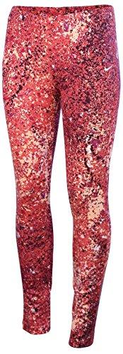 Nike Big Girls' (8-20) Leg A See Splatter Sport Casual Tights-Light Crimson-Large