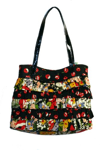 Vera Bradley Patchwork Collection Cha Cha Handbag in Poppy Fields