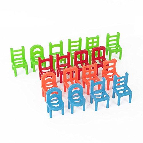 USATDD Balance Chairs Game Plastic Stacking Desktop
