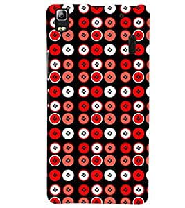 Printvisa Premium Back Cover Red And White Circular Pattern Design For Lenovo A7000::Lenovo K3 Note