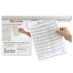 Advantus Grip-a-Strip Display Rail, 96-Inch Long, 1.5-Inch High, Satin Aluminum Finish (AVT02015)