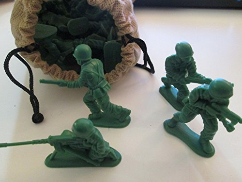 Military Action Figures - 30 Count Bag - Army Green