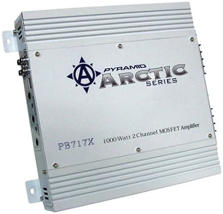 Pyramid pb717 x Arctic Series 1000W 2 canaux Mosfet Amplificateur stéréo de voiture