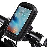 Ubegood 防水スマホホルダー バイクスタンド 自転車ホルダー GPSナビ・スマホ・iPhone固定用マウントキット 携帯ブラケット 360度回転 脱落防止 調整クッション2枚付き 5.5インチの端末まで対応