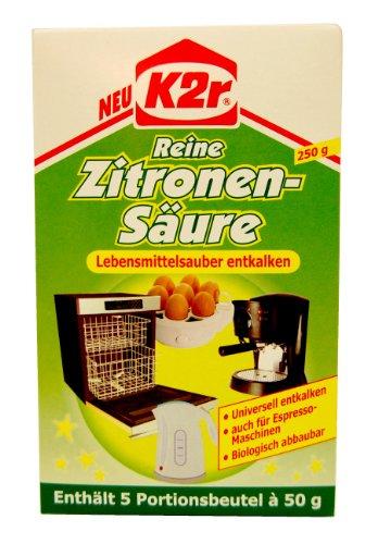 g stig online shoppen k2r reine zitronens ure pulver 250g 5x50g. Black Bedroom Furniture Sets. Home Design Ideas