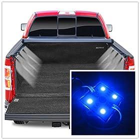 8pc Pick-Up Truck Bed / Rear Work Box - 32 Blue LED Lighting System Light Kit