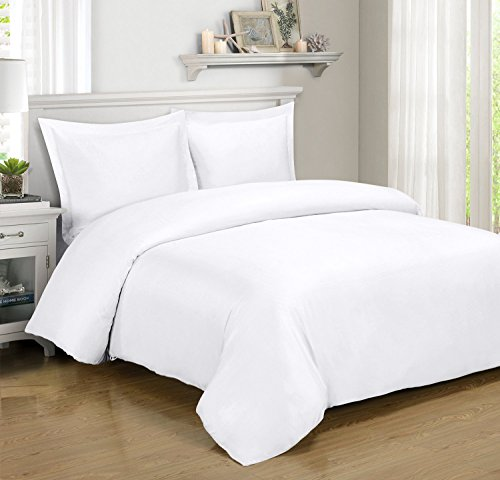 Full / Queen White Silky Soft Duvet Covers 100% Rayon from B