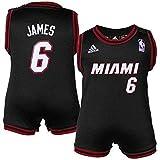 James Lebron Miami Heat Black Away NBA Infants 2013 Revolution 30 Replica Creeper Jersey