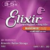 Elixir - Cordes pour les guitares folk, acoustiques et électro acoustiques NANOWEB ACOUSTIC 12/53 _ 11052