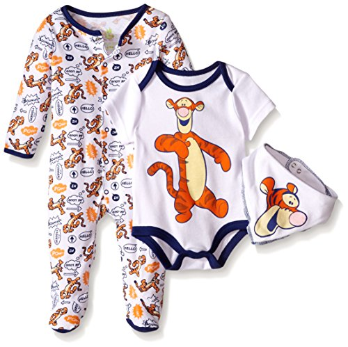 Disney Baby Tigger 3 Pc Set, Multi/Orange, 3/6 Months (Baby Tigger)