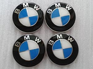 25 65mm Bmw Blue Emblem Wheel Center Hub Cap Sticker Set Of 4 E46 E39 E38 E90 E60 from mark.onlinebusiness