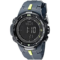 "Casio Men's PRW-3000-2CR ""Protrek"" Sport Watch with Black Resin Band"
