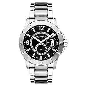 RODANIA 25032-46 42mm Silver Steel Bracelet & Case Mineral Men's Watch