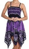 Sakkas Batik Handkerchief Hem Tunic Short Dress