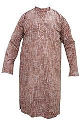 Indiatrendzs Men's Cotton Kurta (Mk-124A _Brown _48)