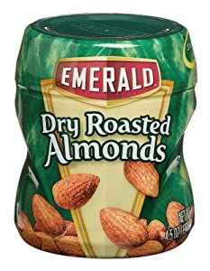 Emerald Nuts Dry Roasted Almonds, 4.5-Ounce Canisters (Pack of 12)