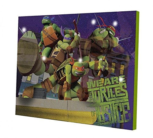 Teenage Mutant Ninja Turtles Light Up Canvas LED Wall Art - 1