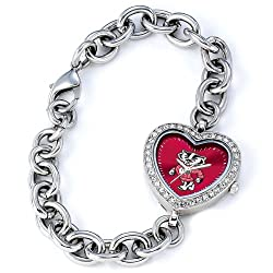 Wisconsin Badgers Gametime Heart Bracelet/Watch