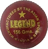 ASN Legend Leather Cricket Ball (Red)