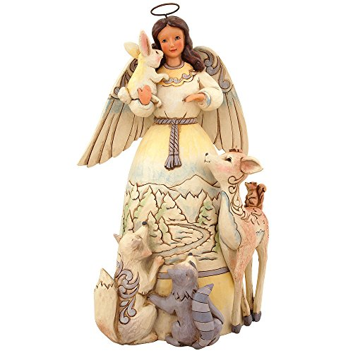 Jim Shore for Enesco Heartwood Creek Woodland Angel with Animals Figurine, 9.5-Inch