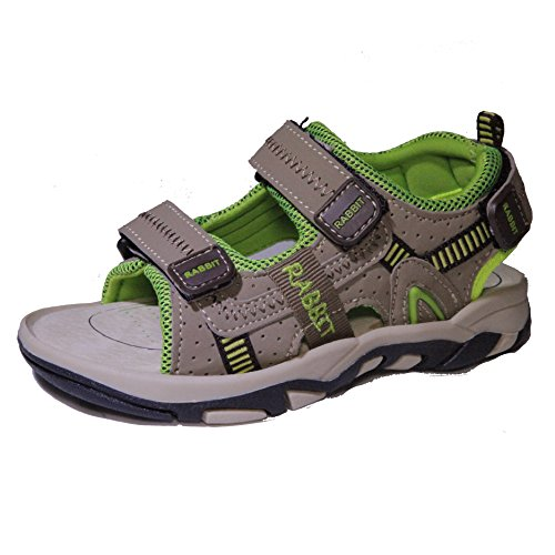 Kids Conda Bright Green Explorer Triple Strap Sandals for Boys and Girls Size 3 M US Little Kid